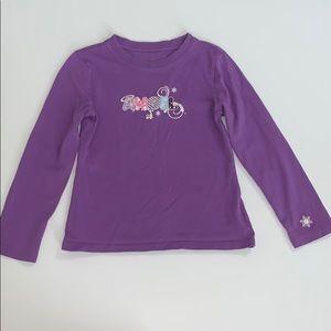 Girl's Purple Long Sleeve Top, Small 5/6